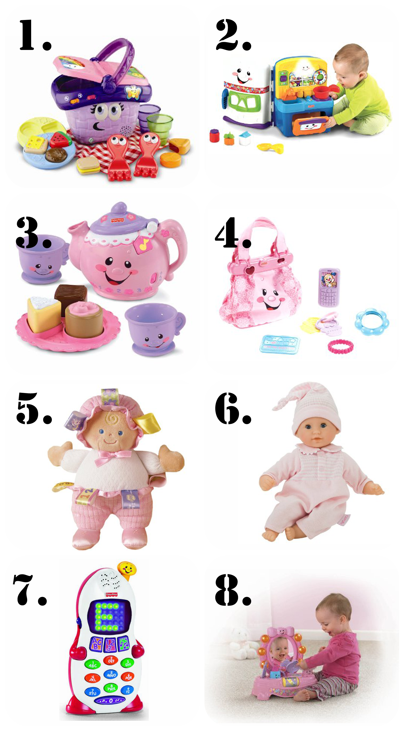 The Ultimate Gift List for a 1 Year Old Girl! | Birthdays, Gift ...