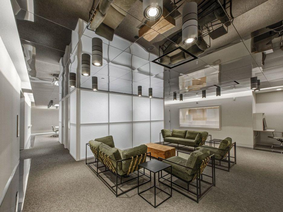 New Library At The Dallas Museum Of Art Features A Mirrored Ceiling And A Translucent Interior Design School Interior Design Institute Masonite Interior Doors