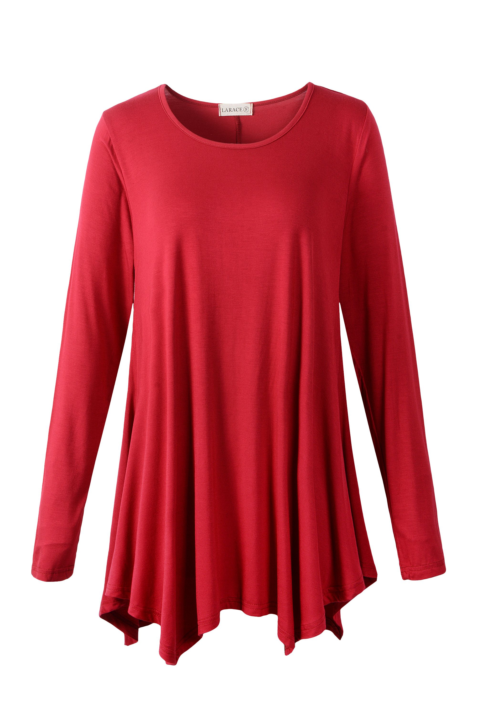 f67a784e74c larace winered long sleeve shirt tops