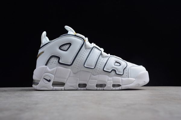 9334046ae8f 2018 New Nike Air More Uptempo White/Blue-Gold Shoes in 2019 | Nike ...