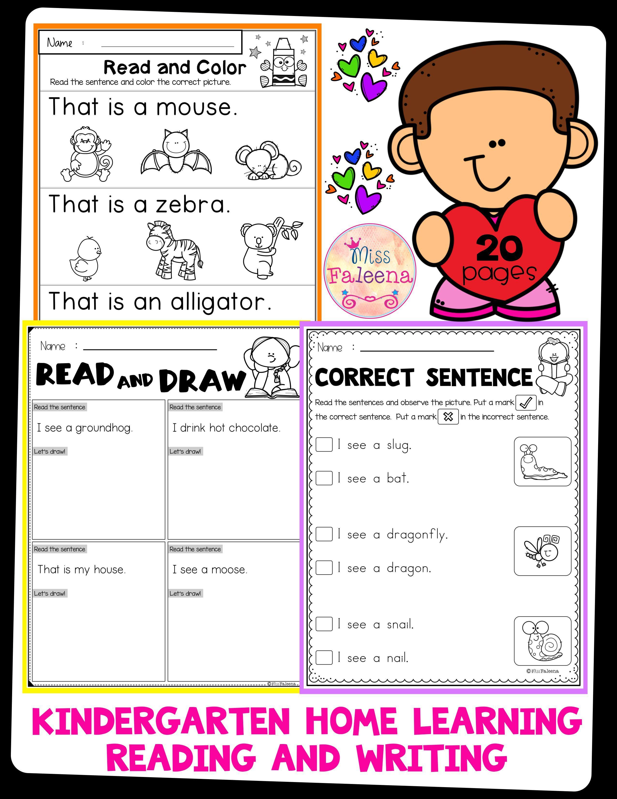 Free Kindergarten Home Learning