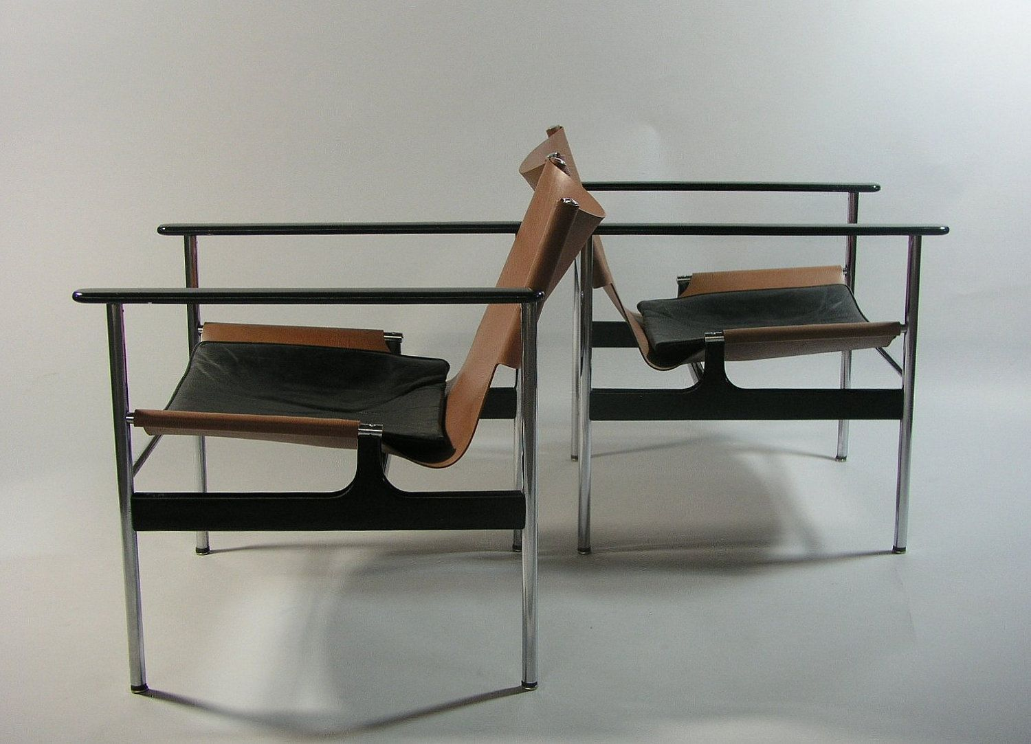 1960 Charles Pollock Sling Lounge Chair Model 657 for Knoll