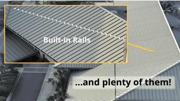 Standing Seam And Exposed Fastened Metal Roofs Already Come With Free Rails To Mount Solar On Learn More About Direct Metal Roof Solar Panel Installation Solar Panels