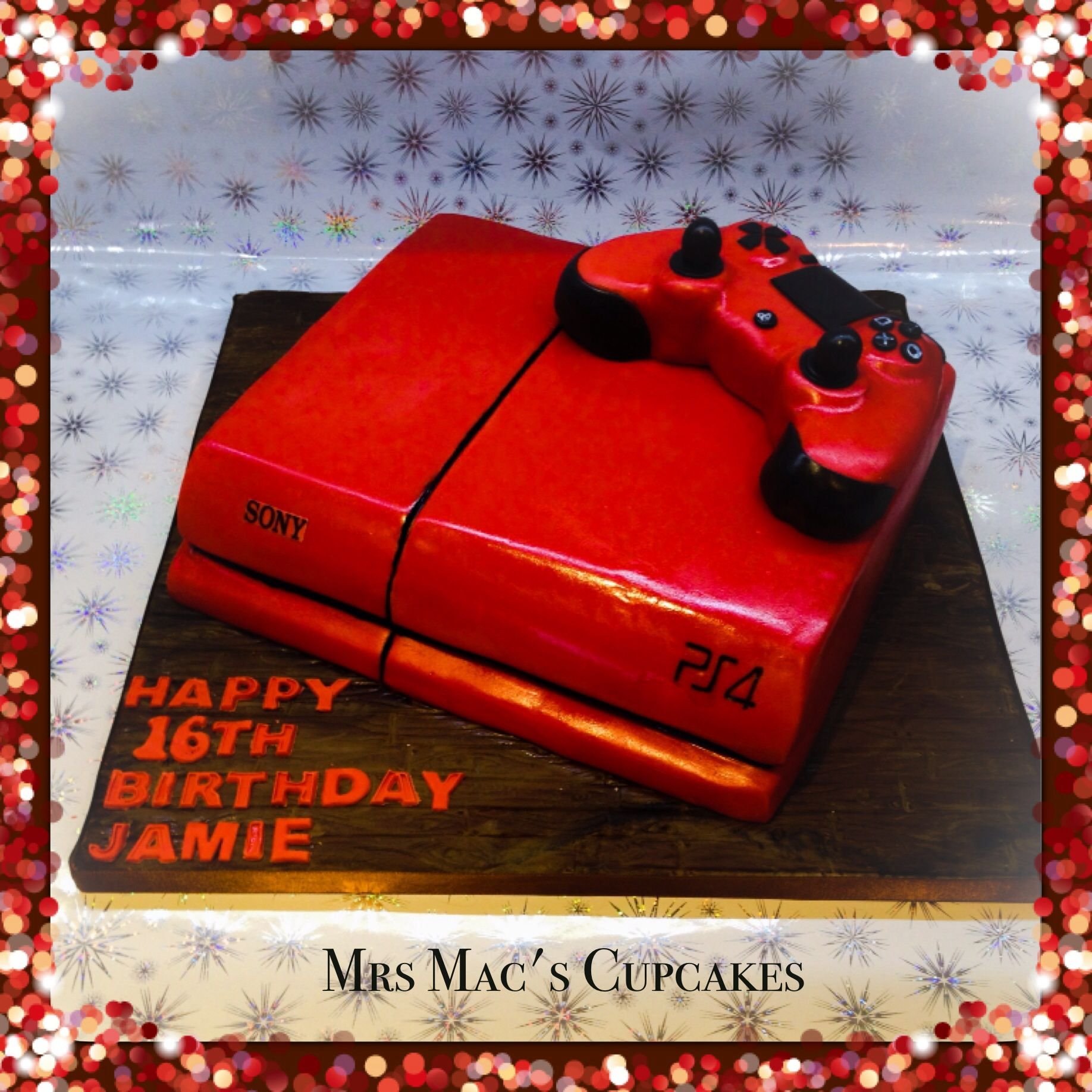 My Playstation 4 Cake With Controller Of Course Boy Birthday Cake Happy 16th Birthday Playstation Cake