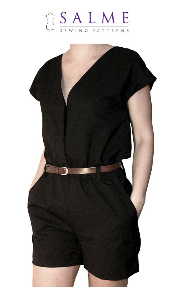 Playsuit PDF Sewing pattern | Pinterest | Patrones de costura ...