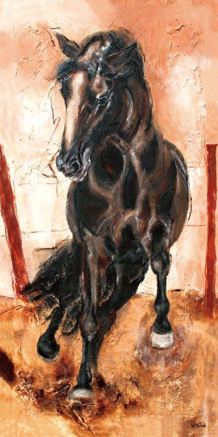 Pferde Kunstdruck, Pferdebild, Pferdegemälde, Pferdeportrait, Pferdekalender von der Künstlerin und Pferdemalerin Kerstin Tschech
