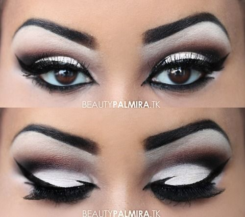 This Shadow And Liner Shape Is Dramatic And Gorgeous Black And