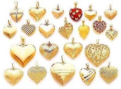 Gold heart pendant gold heart pendants puffed cherry blossom gold heart pendant gold heart pendants puffed aloadofball Gallery