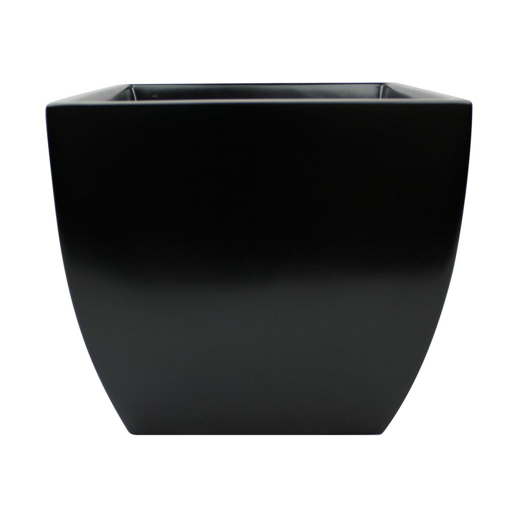 Root And Stock Pacifica Square Curved Planter Box Black 400 x 300