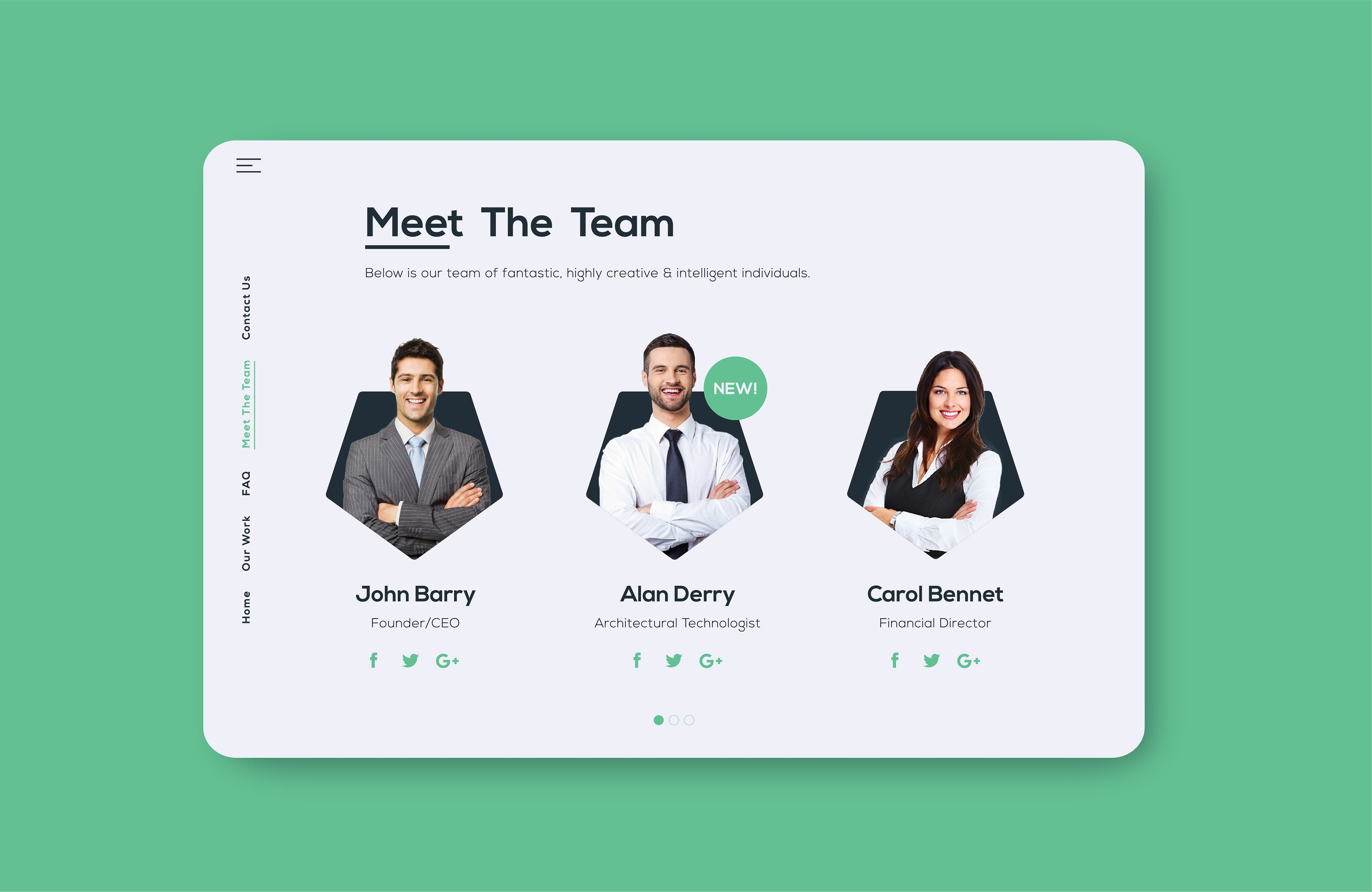 Meet The Team Page Design By Thomas Johnston Design Thomas Johnston Design Is A Creative Graphic De Web Design Graphic Design Branding Creative Graphic Design