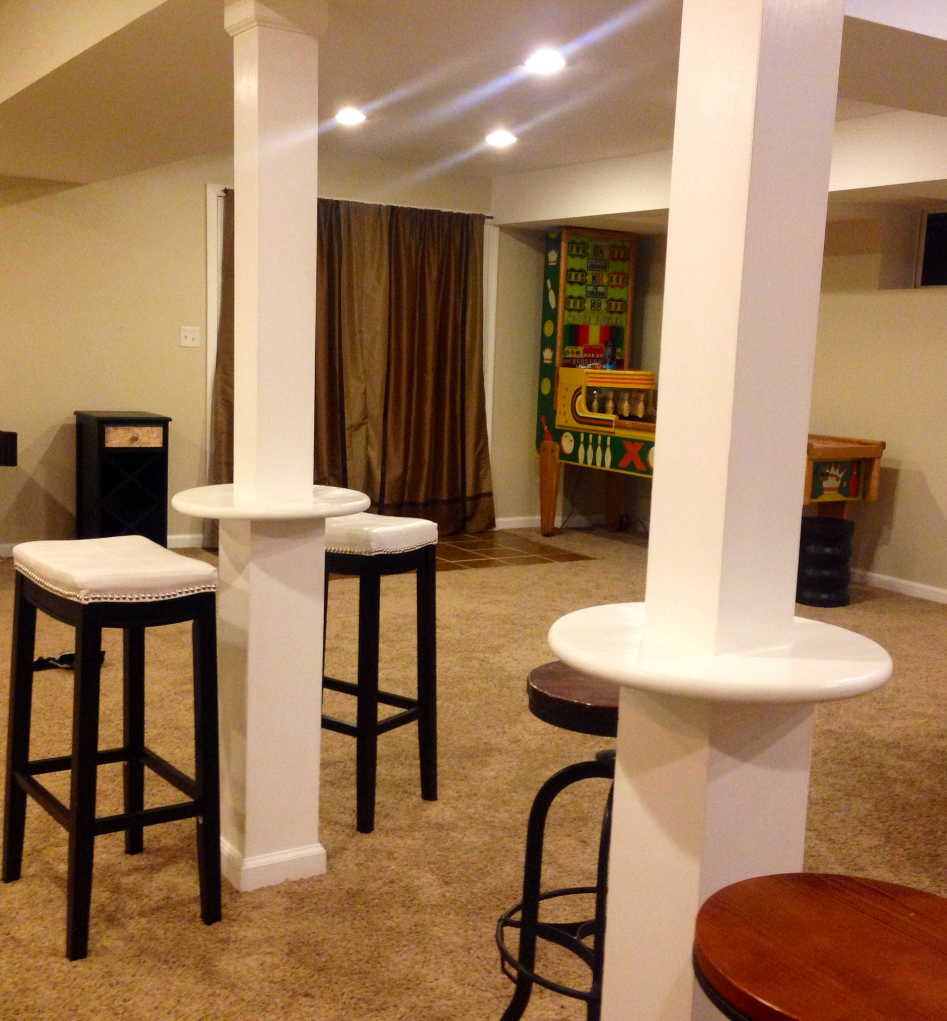 Basement Ideas Basement Home Theater Basement Basement: Great Use Of Support Beams In A Finished Basement
