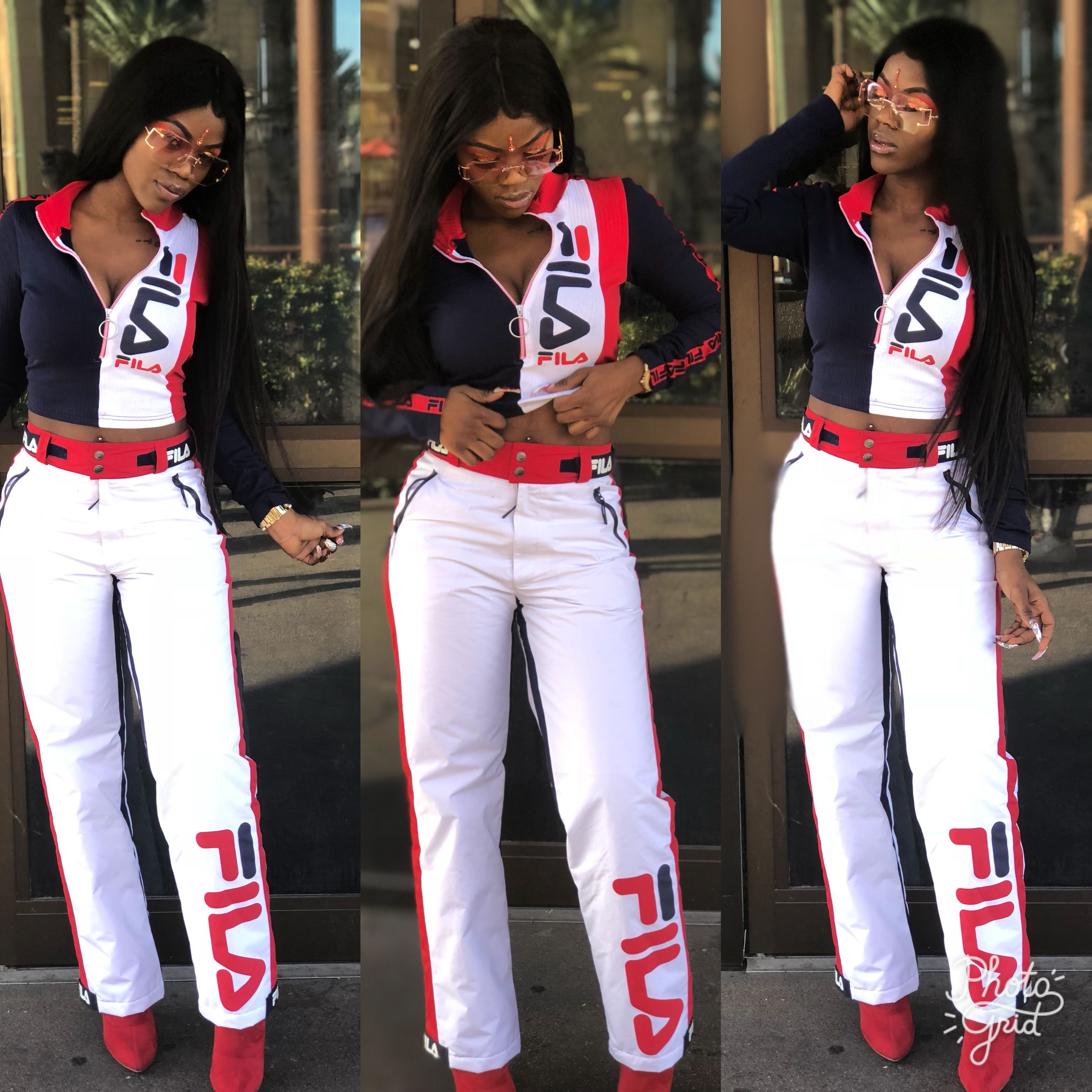 9d4e0c7006c0 FILA outfit 90's inspired look Instagram: melanindolll_ | Fashion in ...