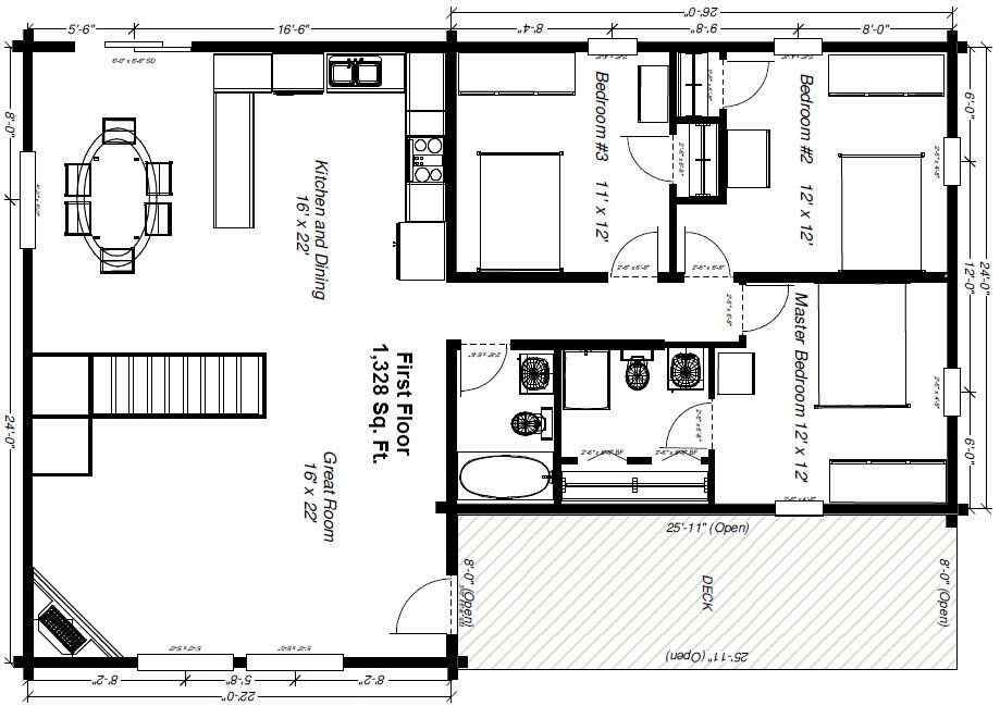 Cabin floor plans  Log houses and Logs on Pinterest
