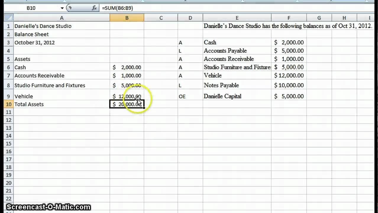 Create A Simple Balance Sheet Balance Sheet Template Excel Spreadsheets Balance Sheet