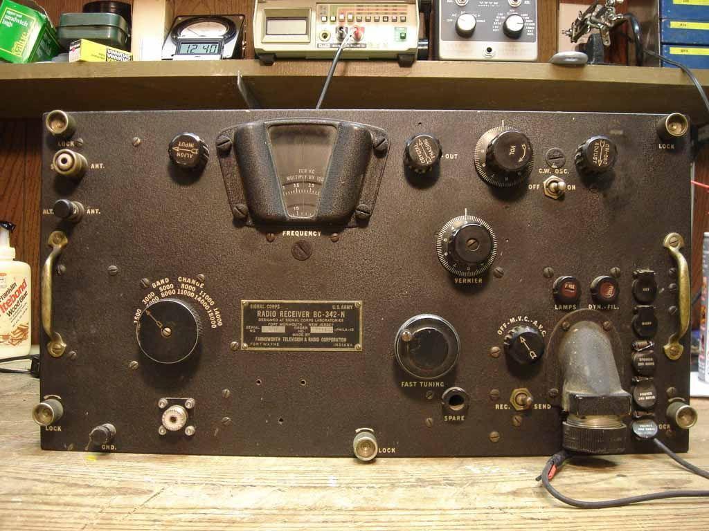 radio receiver BC342N radio Antique radio, Ham radio