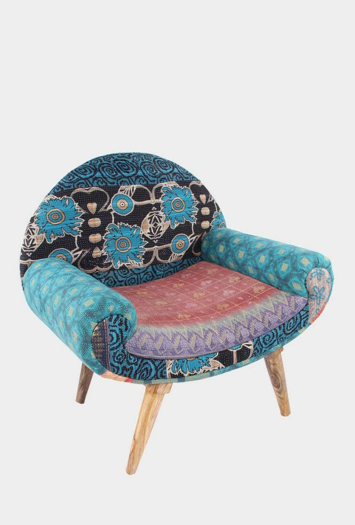 Talia Accent Chair Patchwork Furniture Decor Upholstered Furniture