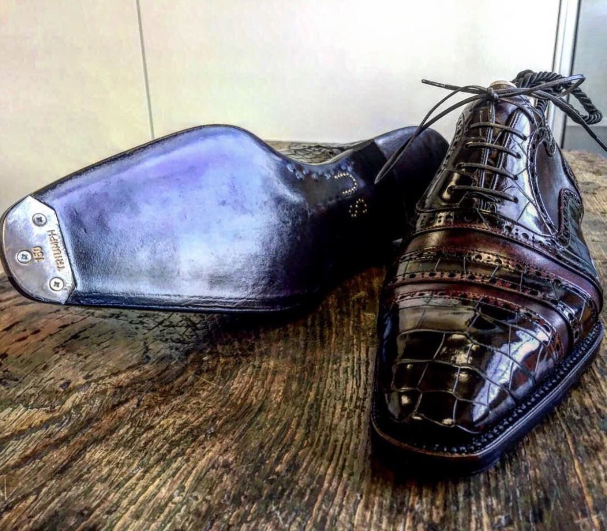 217045a3d709f0 Handmade alligator skin shoes for sale Mens Smart Casual Shoes