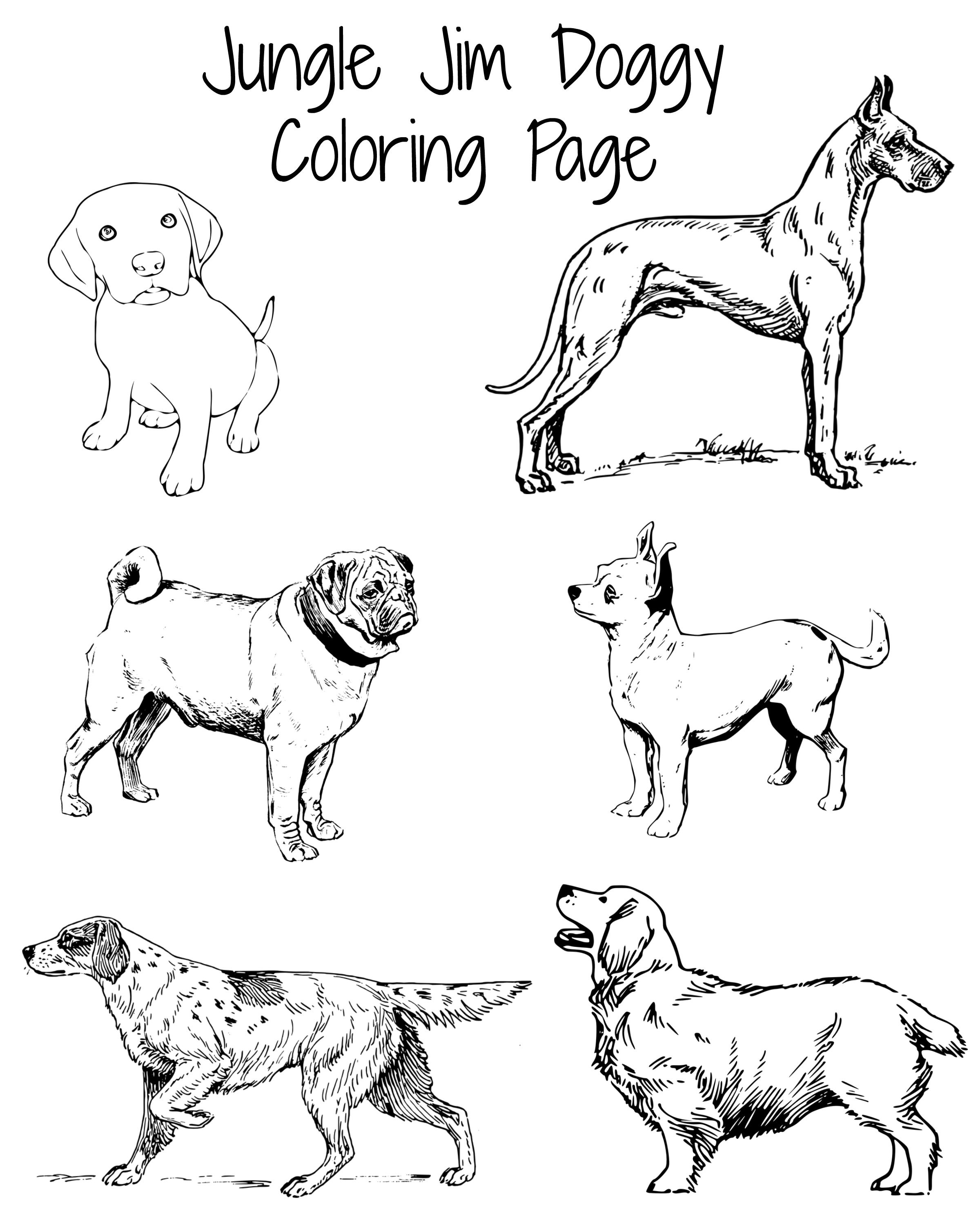 Doggy Coloring Page Perfect For The Dog Days Of Summer Need Activities For The Kids This