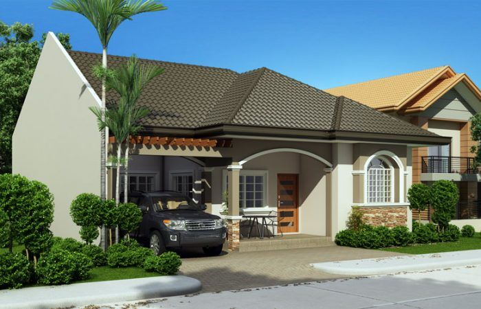 Single Story Small House Plan Floor Area 124 Square Meters U2013  MyhomeMyzone.com