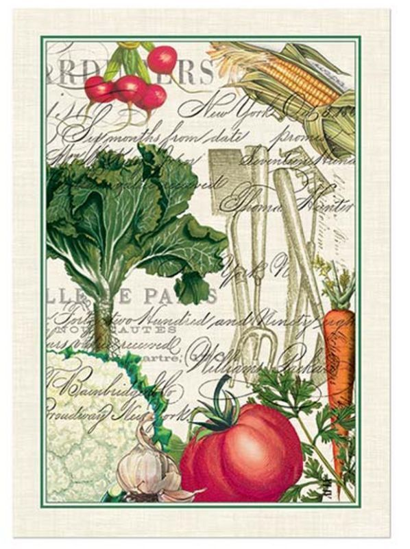 FROM MY GARDEN Vegetables U0026 Tools Cotton Kitchen Towel By Michel Design  Works In Home,
