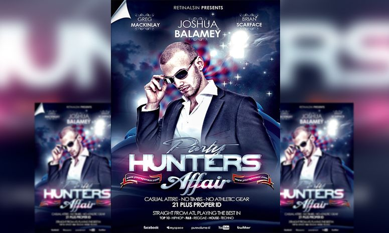 Psd Party Hunters Affair Flyer Template By Bicirique  Graphic