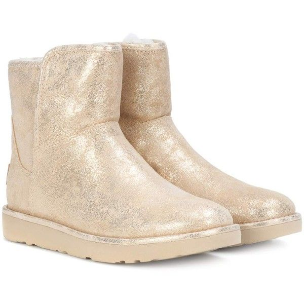 676dab4a1 Ugg Australia Abree Mini Stardust Ankle Boots ($255) ❤ liked on Polyvore  featuring shoes, boots, ankle booties, gold, gold ankle boots, gold boots,  ugg ...