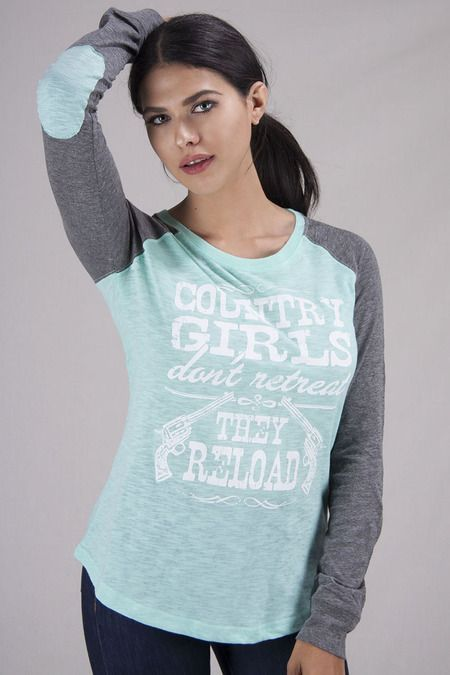 c3df8687ec Juniors Country Girls Reload Patch Raglan Tee | Clothes/Jewelry ...