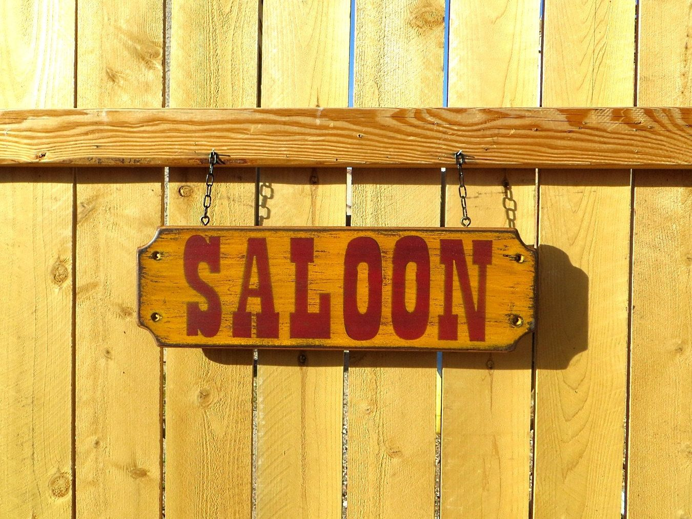 SALOON SIGN, Rustic Old West Western Wall Decor Wall Hanging, Beer ...