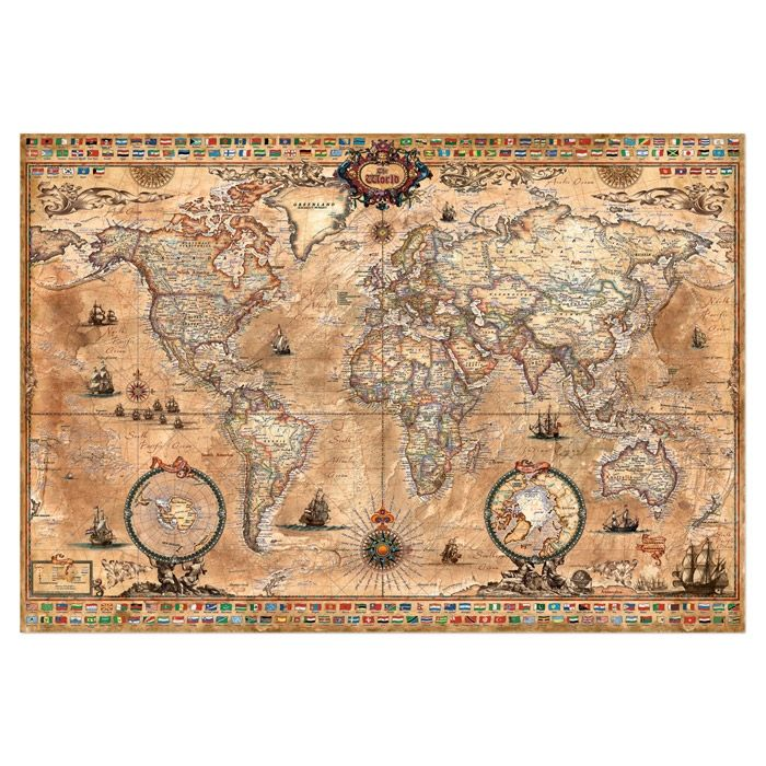 1000pc antique world map jigsaw for the home pinterest vintage 1000pc antique world map jigsaw gumiabroncs