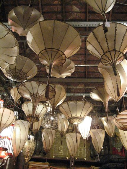 Fortuny lamps:Silk-Scheherazade-3-tiers-Brown-Floral