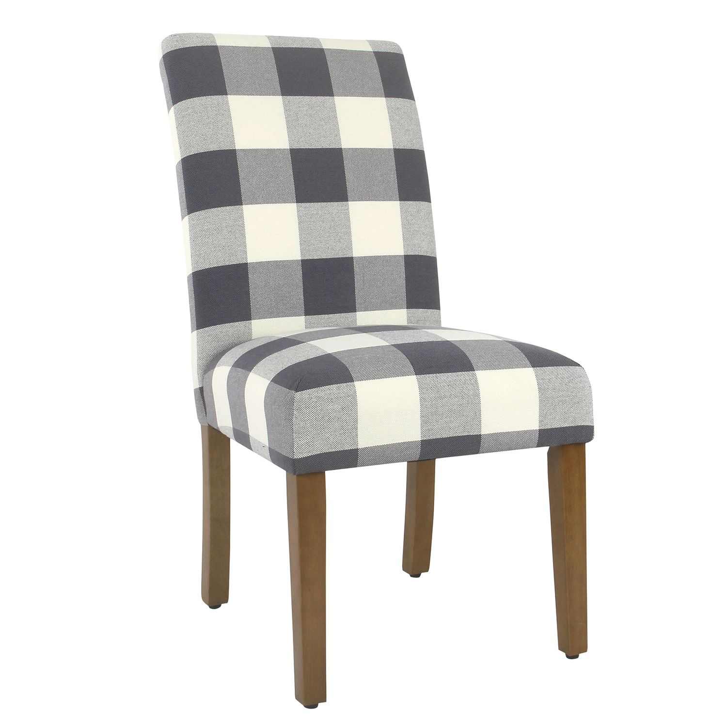 Best Blue Plaid Parsons Dining Chair Set Of 2 Meadow Lane Side 400 x 300