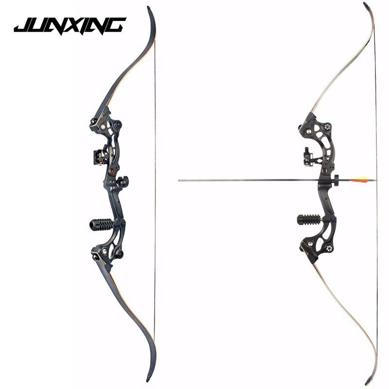 High Quality 30-50 IBS 64 inches Long Black Recurve bow with