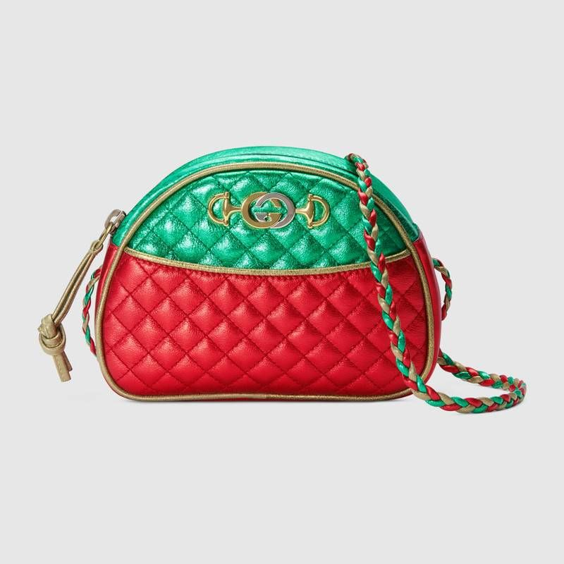 95943b7d012 GUCCI Laminated leather mini bag Save for later  1