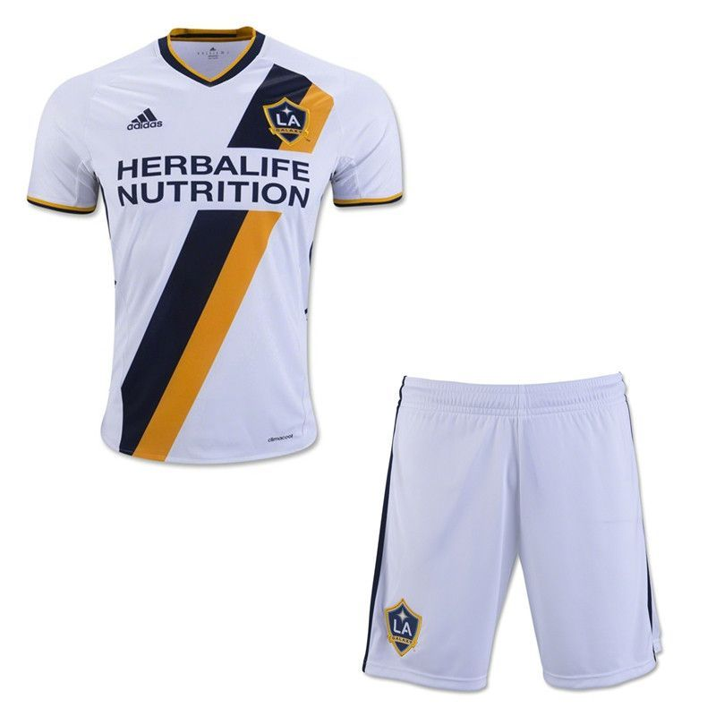 free shipping 6addc e85e5 LA Galaxy 16/17 Home Kids(Youth) Kit Personalized Name and ...