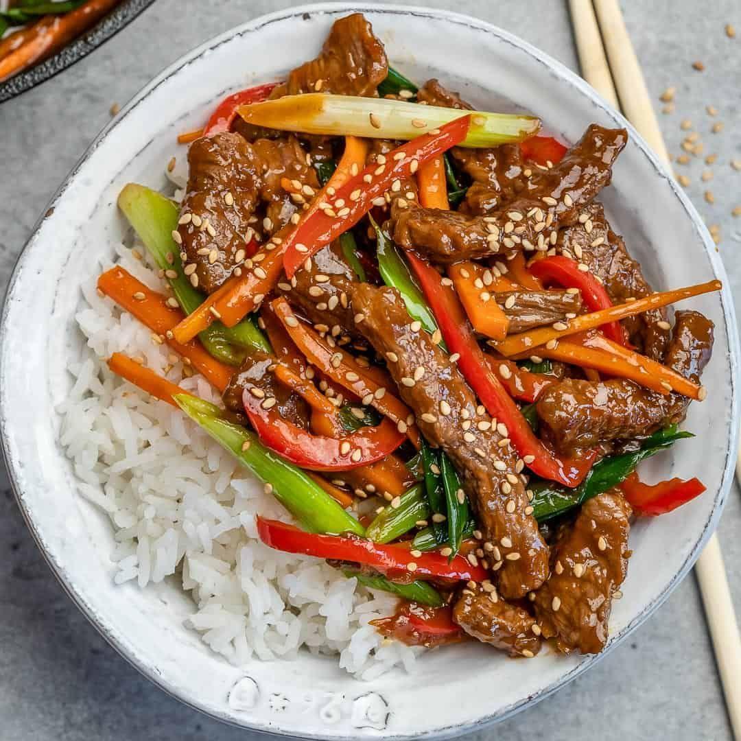 Easy Mongolian Beef Stir Fry Recipe Stir Fry Recipes Healthy Beef Stir Fry Easy Mongolian Beef