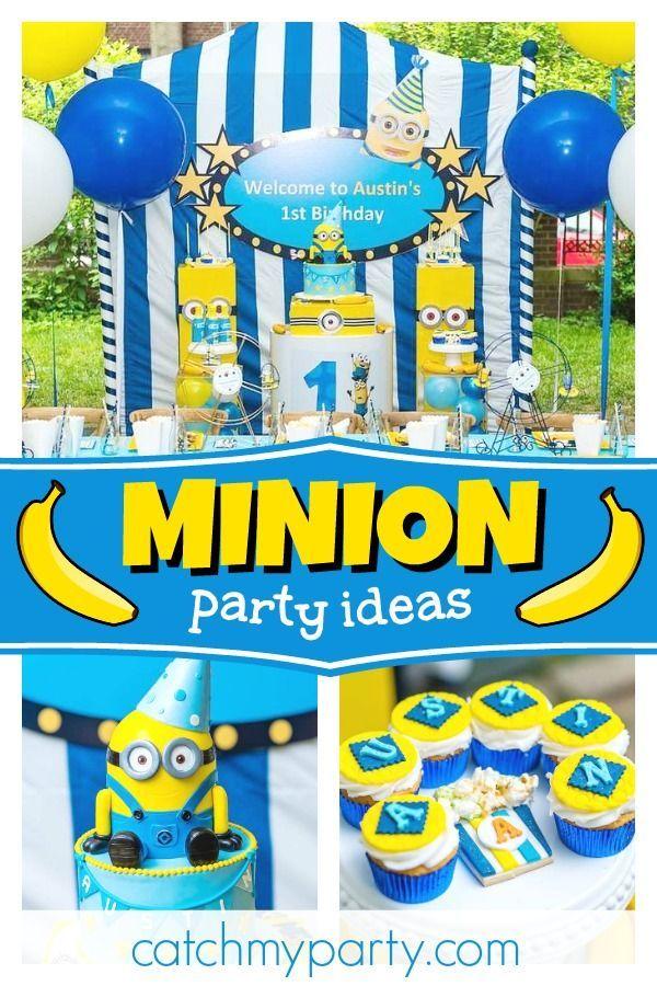 370 Despicable Me Minions Party Ideas In 2021 Minion Party Despicable Me Party Minion Birthday Party
