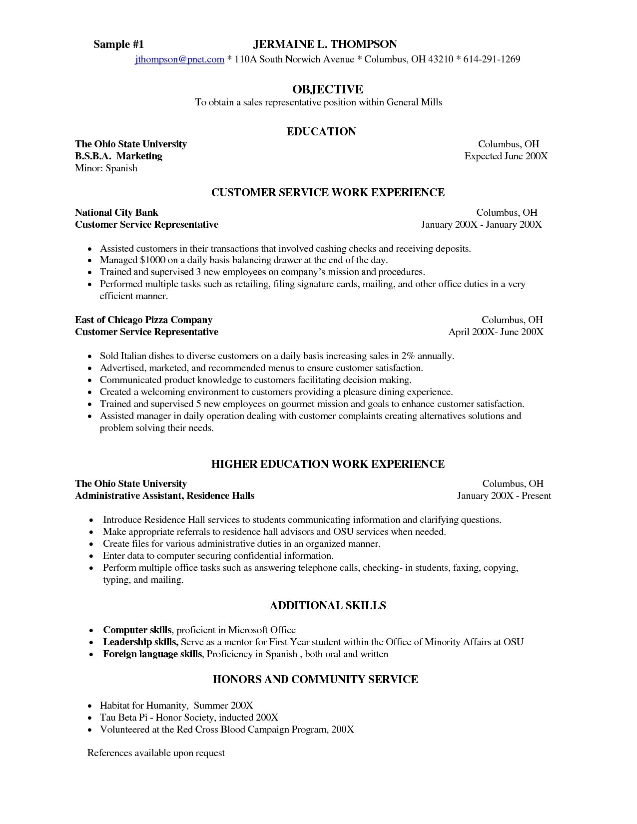 Cover Letter Sample Waitress For Resume Entry Level Waiterwaitress