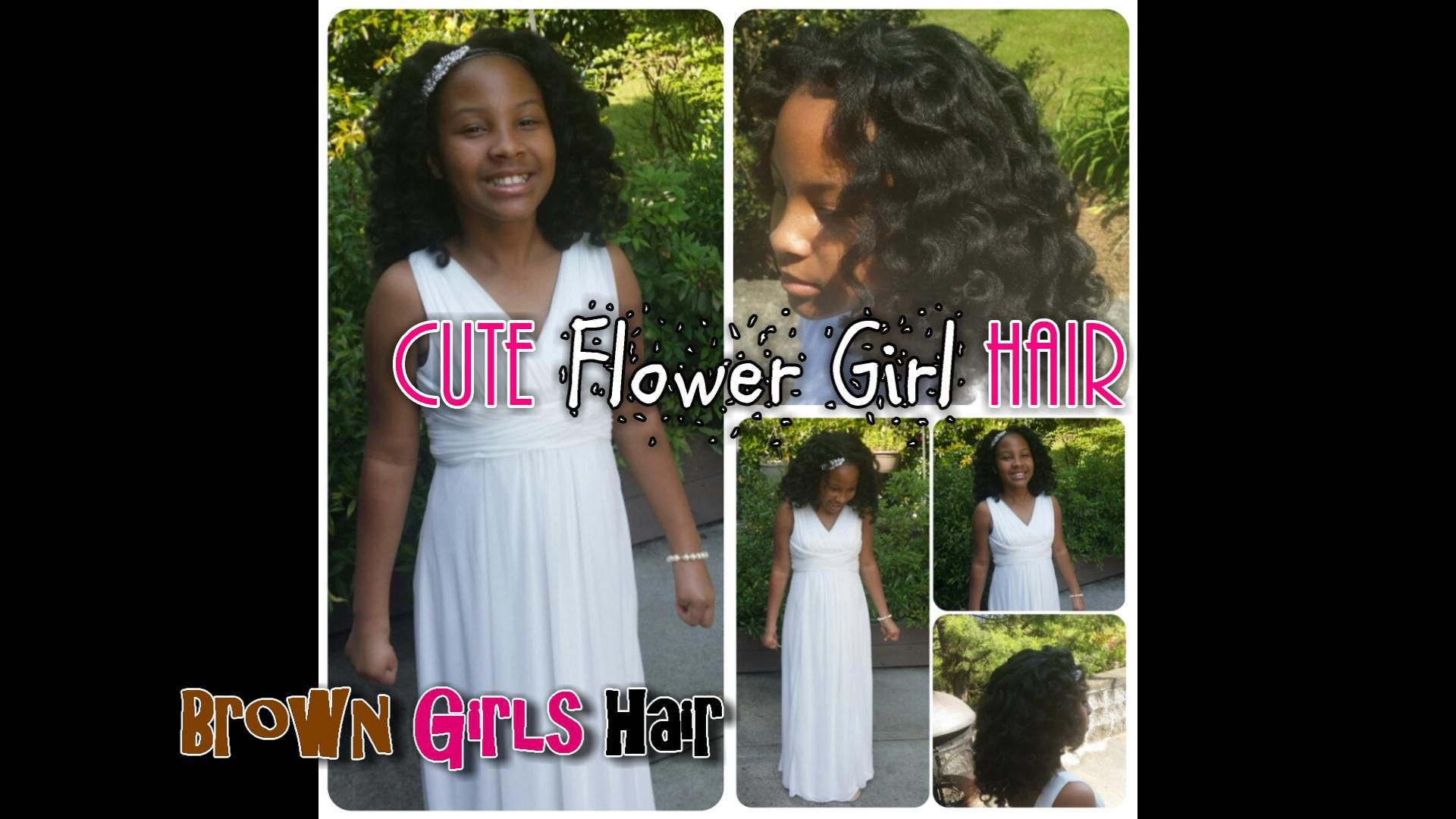 formal wedding hairstyle flower girls Natural hair