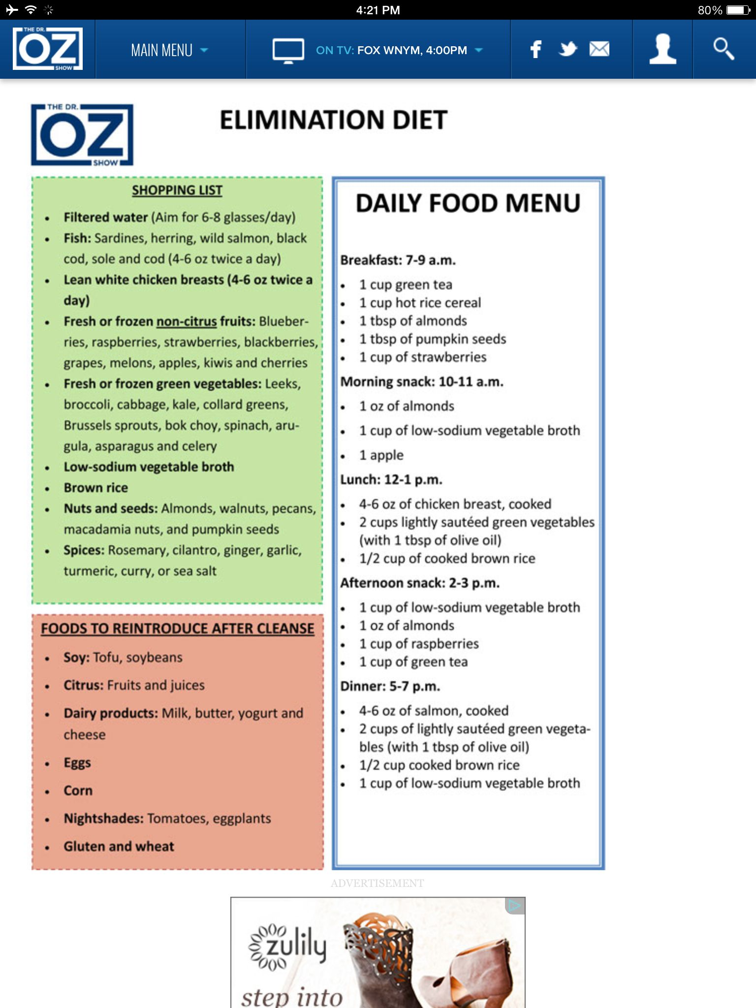 From Dr Oz Website: How To Find Food Allergies