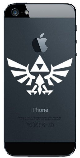 Iphone 5 Black Decal Zelda Symbol Symbols Link Zelda And Nintendo