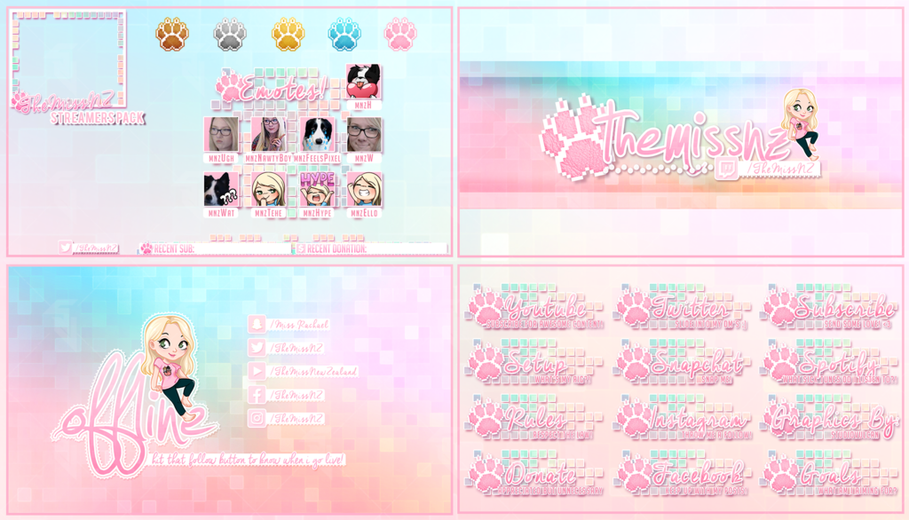 Obs Twitch Cute Overlays