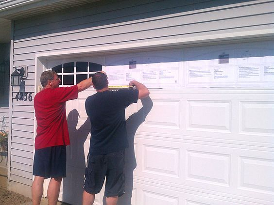 garage door supplies42 DIY Ideas to Increase Curb Appeal  Box houses Garage doors