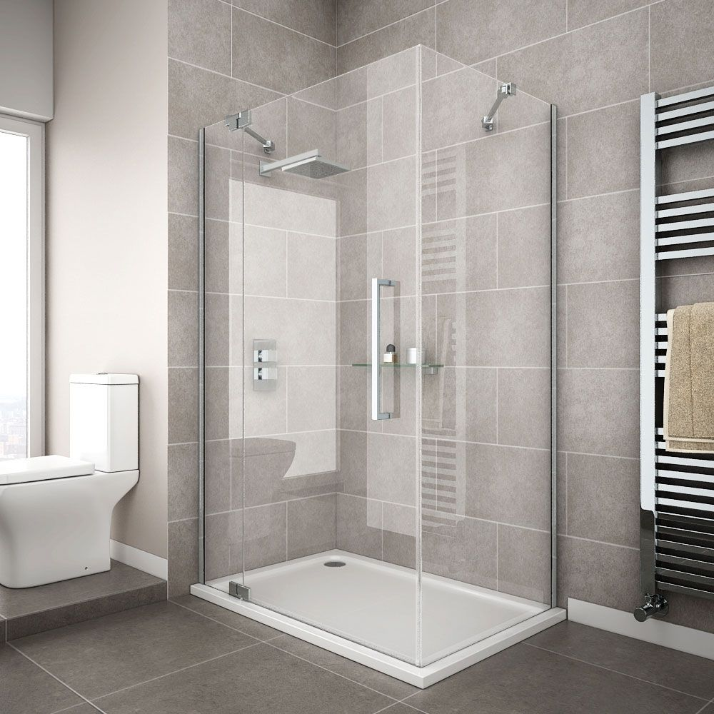 Apollo Frameless Hinged Door Rectangular Enclosure L H Opening Shower Cubicles Frameless Shower Enclosures Shower Enclosure