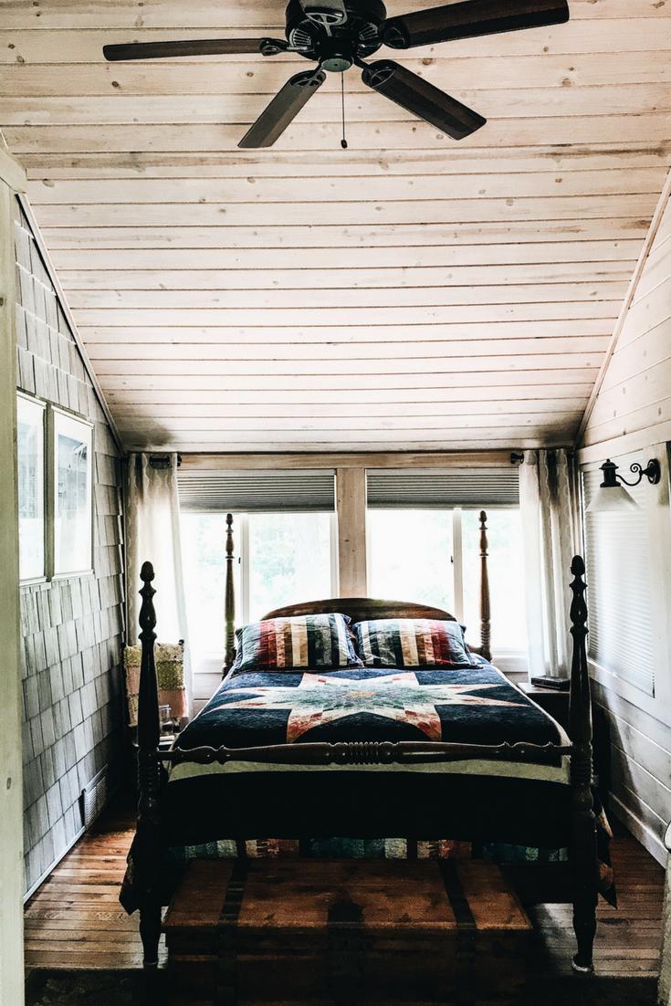 Lake house bedroom loft ideas high ceiling in also jul decor  rh pinterest