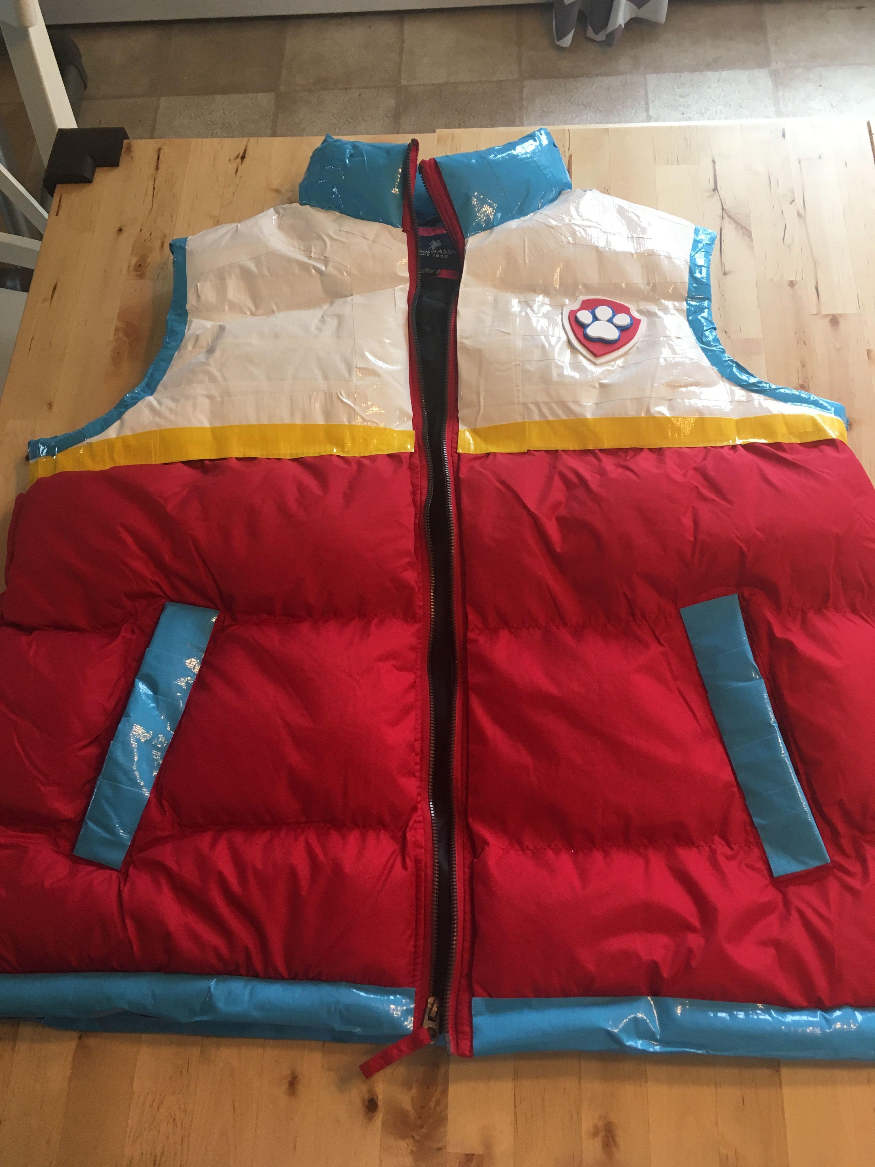 4296d3e721d0 DIY Ryder Vest (Paw Patrol) Duck tape from Michael s