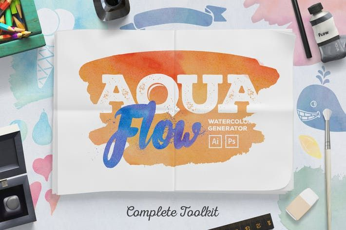 Aquaflow Watercolor Generator By Veila On Layer Style