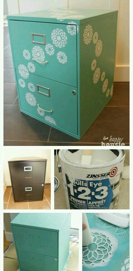 For The Filing Cabinet Desk In My Office Right Now! Turn A Boring Basic  Black Box Filing Cabinet And Transform It Into A Beautiful Piece That You  Love ...