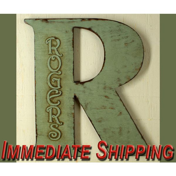 18 Extra Large Letter Wall Decor Wooden Letter Big Letter ...