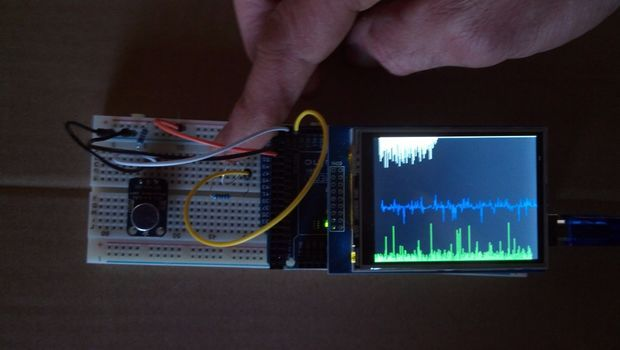 Arduino Analog Signal Graphing on a TFT Touch Screen