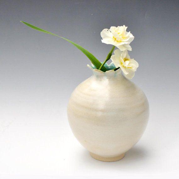 petal vase wheel thrown ceramics by Lee Wolfe
